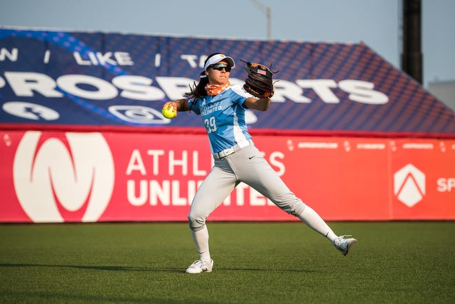 Former Oregon all-American Janie Reed is one of 15 players on the U.S. Olympic softball team that will be the favorite in next year's Summer Olympics in Tokyo. [Jade Hewitt photo]