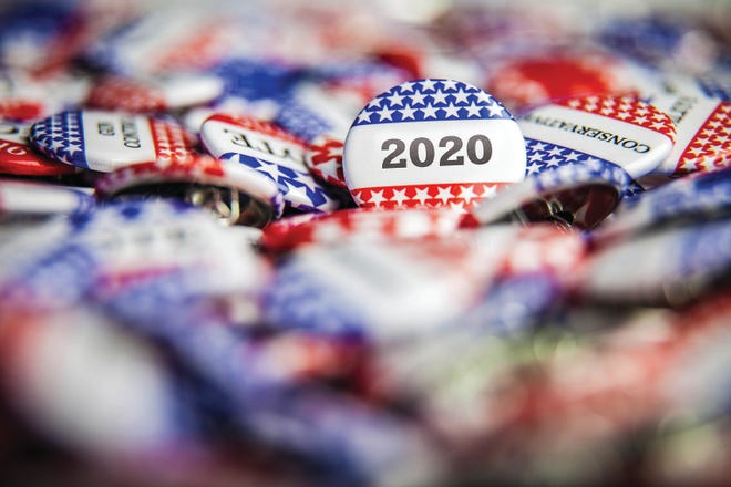 Voting pins for 2020 elections