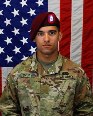 Pfc. Jean Cruz De Leon, a paratrooper in the 82nd Airborne Division's 3rd Brigade Combat Team, died when his parachute malfunctioned. [Contributed photo]