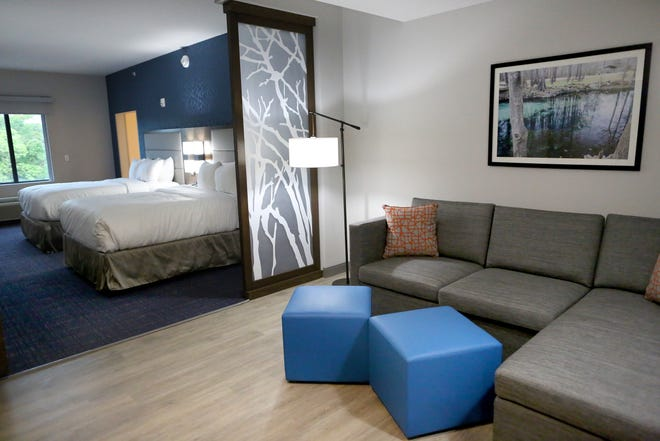 One of the rooms at the new Comfort Suites hotel on Southwest 13th Street in Gainesville on Thursday.