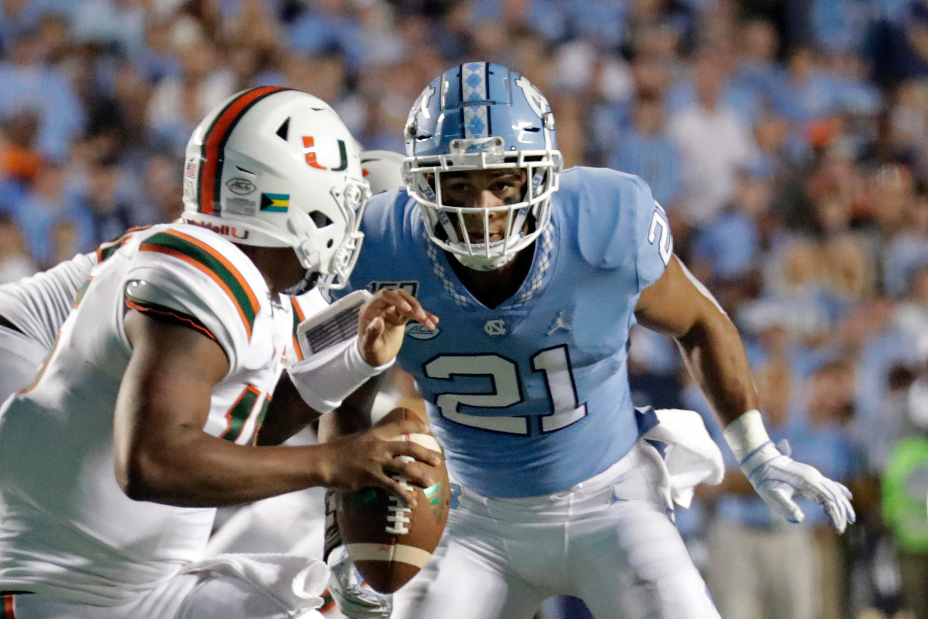 UNC football players cross-train to prepare for multiple positions