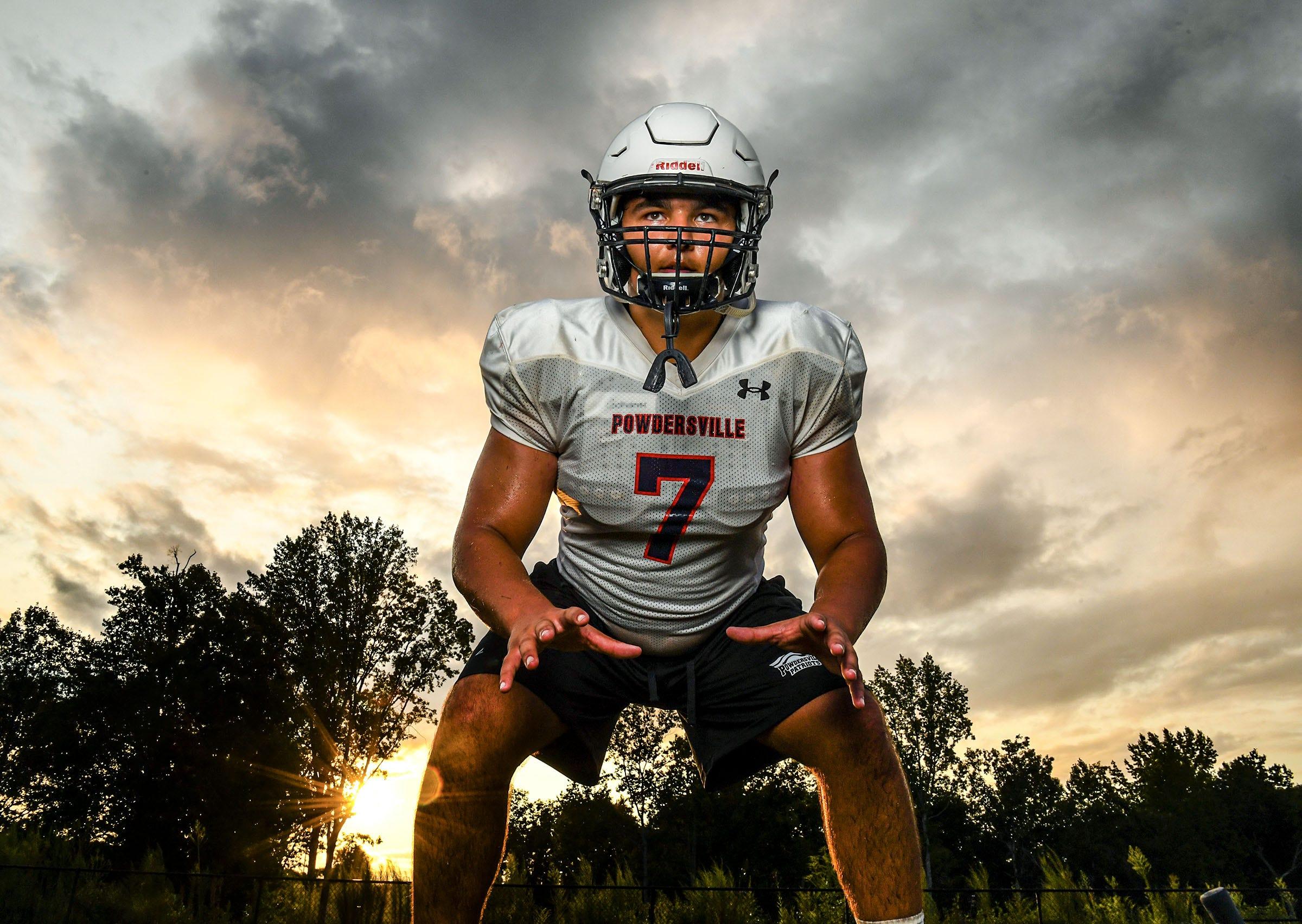 Powdersville High School senior linebacker Will Goforth in Powdersville, S.C. September 2020.