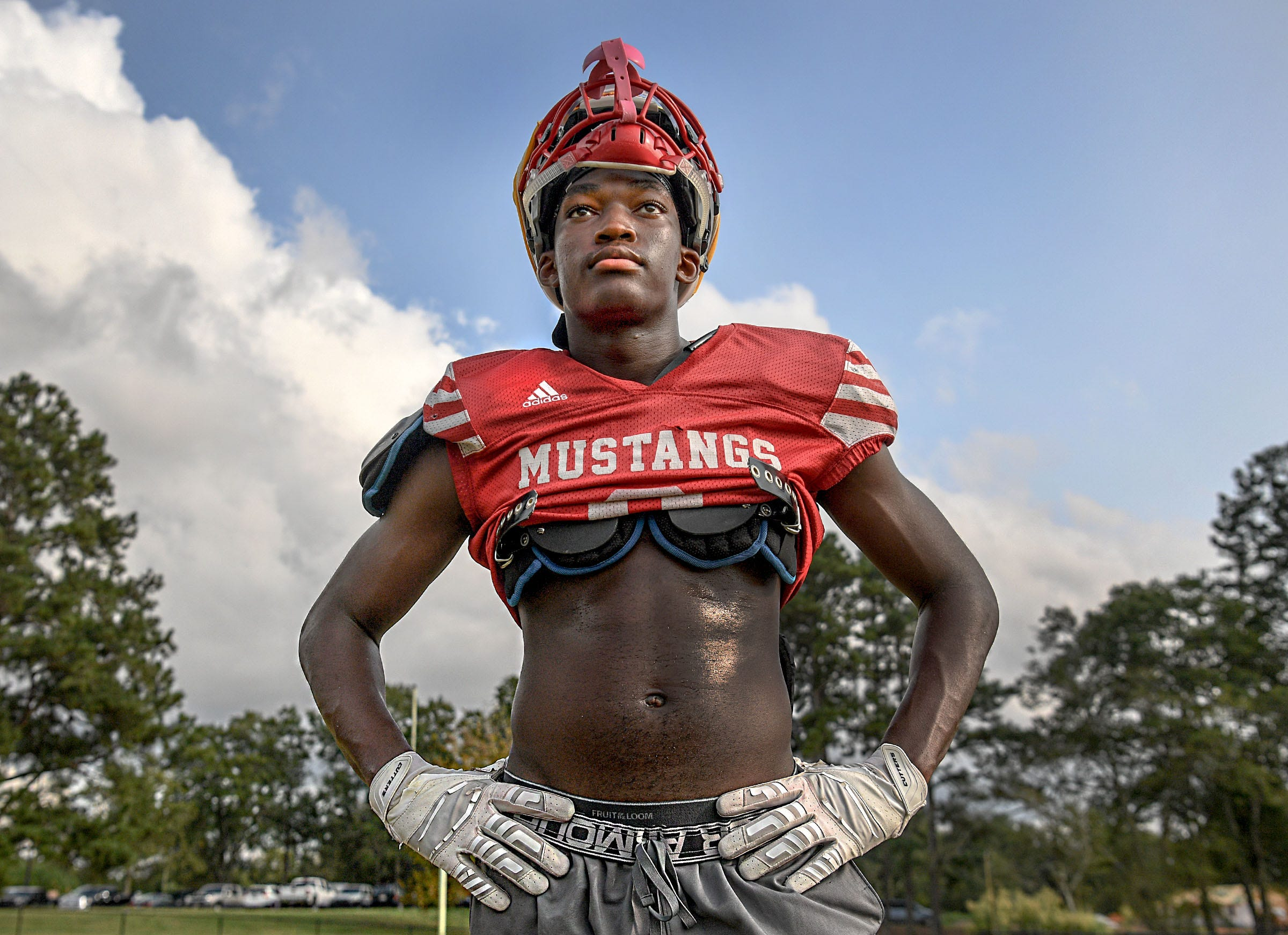 Palmetto football wide receiver Jalal Dean in Williamston, S.C. Wednesday, September 9, 2020.