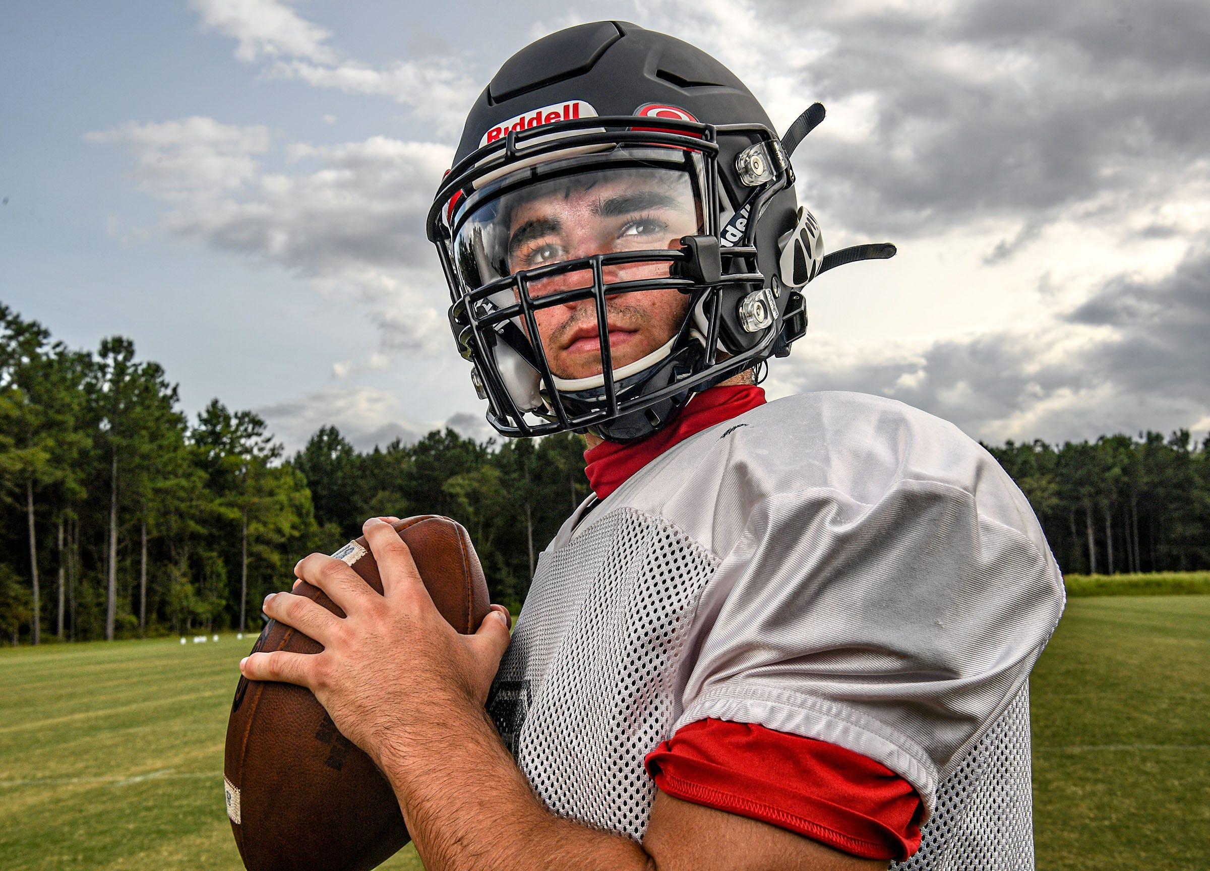 Belton-Honea Path football quarterback Tyler Fields in Honea Path, S.C. Wednesday, September 9, 2020.
