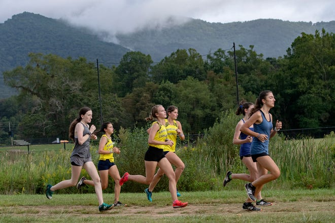 Asheville Christian Academy in Swannanoa has restricted the public's use of nature trails, citing safety and appropriate usage concerns. The school will continue to permit both public and private schools to utilize the campus for organized cross-country meets, the head of school said. This file photo shows a cross country meet on Sept. 9, 2020.