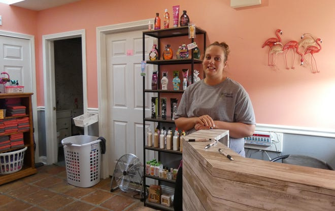 Brittany Hunt has owned Heat Wave Tanning Salon since January. A ribbon-cutting, delayed by the COVID-19 pandemic, is planned for 4 p.m. Monday.