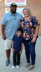 Terrell and Alayna Cummings are pictured with their son Cayden, 5, who raised $1,020 from his lemonade stand to raise money for classmates at Fairfield North Elementary School.