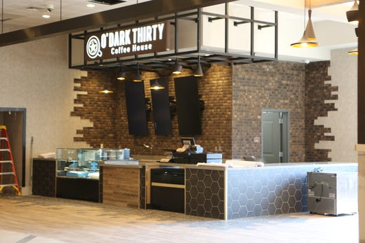 The O'Dark Thirty Coffee House in the lobby of the Oak Grove Racing & Gaming facility, just a week before their grand opening to the public on Sept. 18, 2020.