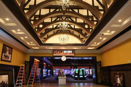 The grand entrance to the gaming floor at the new Oak Grove Racing & Gaming facility, set to open to the public on Sept. 18, 2020.