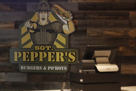 A cash register awaits customers on Sept. 9 at Sgt. Peppers Burgers & Po'Boys, one of four restaurants inside the new Oak Grove Racing & Gaming facility, scheduled to open to the public on Sept. 18, 2020.