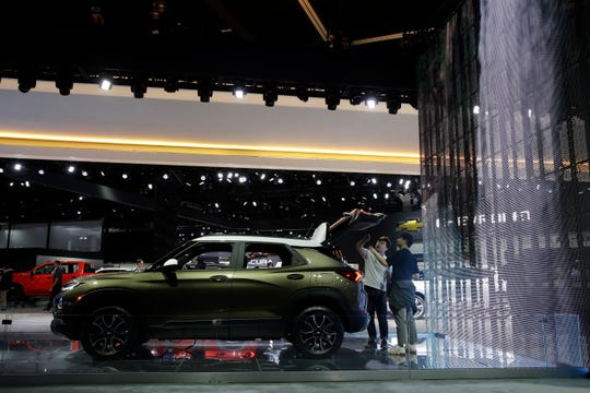 The 2021 Chevy Trailblazer is shown at the AutoMobility LA auto show on Nov. 21, 2019, in Los Angeles.