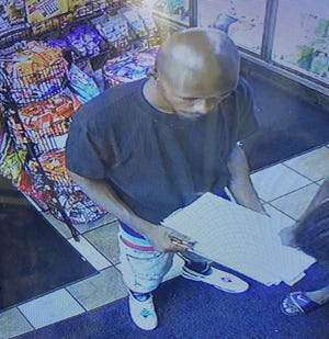 Detroit police described this person as a suspect in an assault on Sunday.