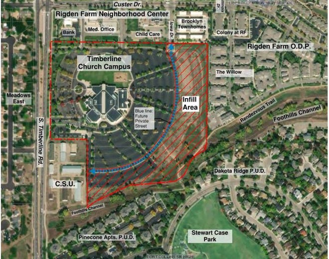 Timberline Church is working on a land swap with Colorado State University for 10 acres of its property at 2908 Timberline Road for affordable and attainable housing.