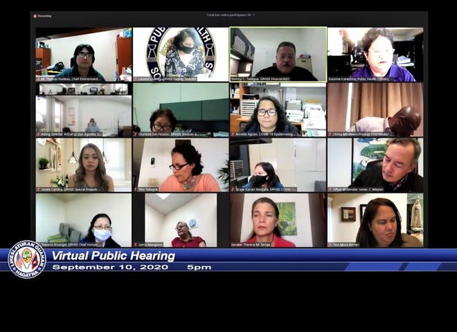 A virtual public hearing us underway via YouTube.