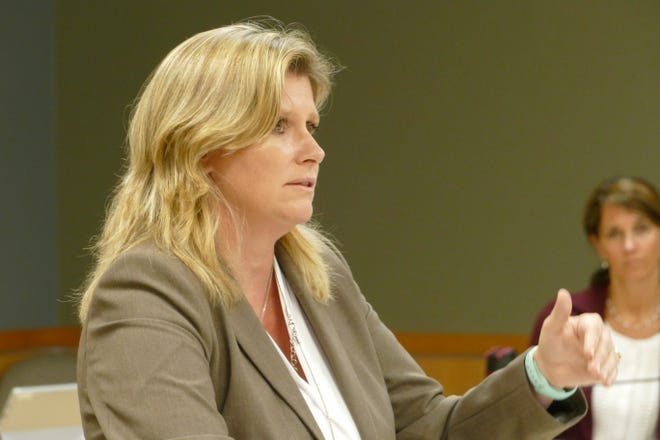 Samantha Malloy, manager of the Parks and Recreation Department of the city of Marco Island, speaks during a City Council meeting on Sept. 9, 2020.