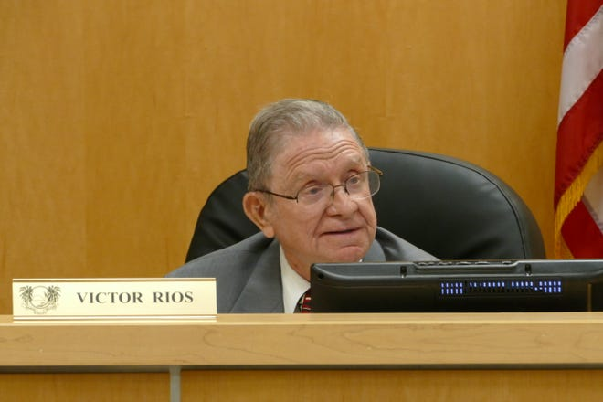 Marco Island City Councilor Victor Rios speaks during a Council meeting on Sept. 9, 2020.