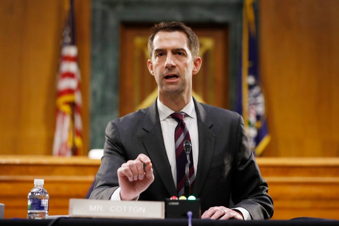 Arkansas Sen. Tom Cotton's name has been put on a list of 20 additional candidates to be nominated for a Supreme Court judgeship should an opening arise, President Donald Trump said Wednesday.