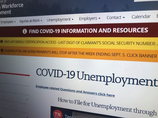 The Federal Emergency Management Agency has informed the Tennessee Department of Labor and Workforce Development that $300 weekly federal grant payments for eligible unemployed individuals will cease after covering retroactive payments through the week ending Sept. 5.