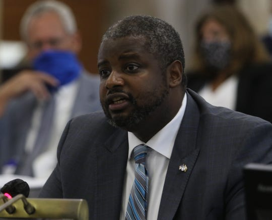 The NJ Senate Budget and Appropriations Committee hearing listened to testimony from Marcus O. Hicks, the Commissioner of the New Jersey Department of Corrections in the senate annex in Trenton, NJ on September 10, 2020.