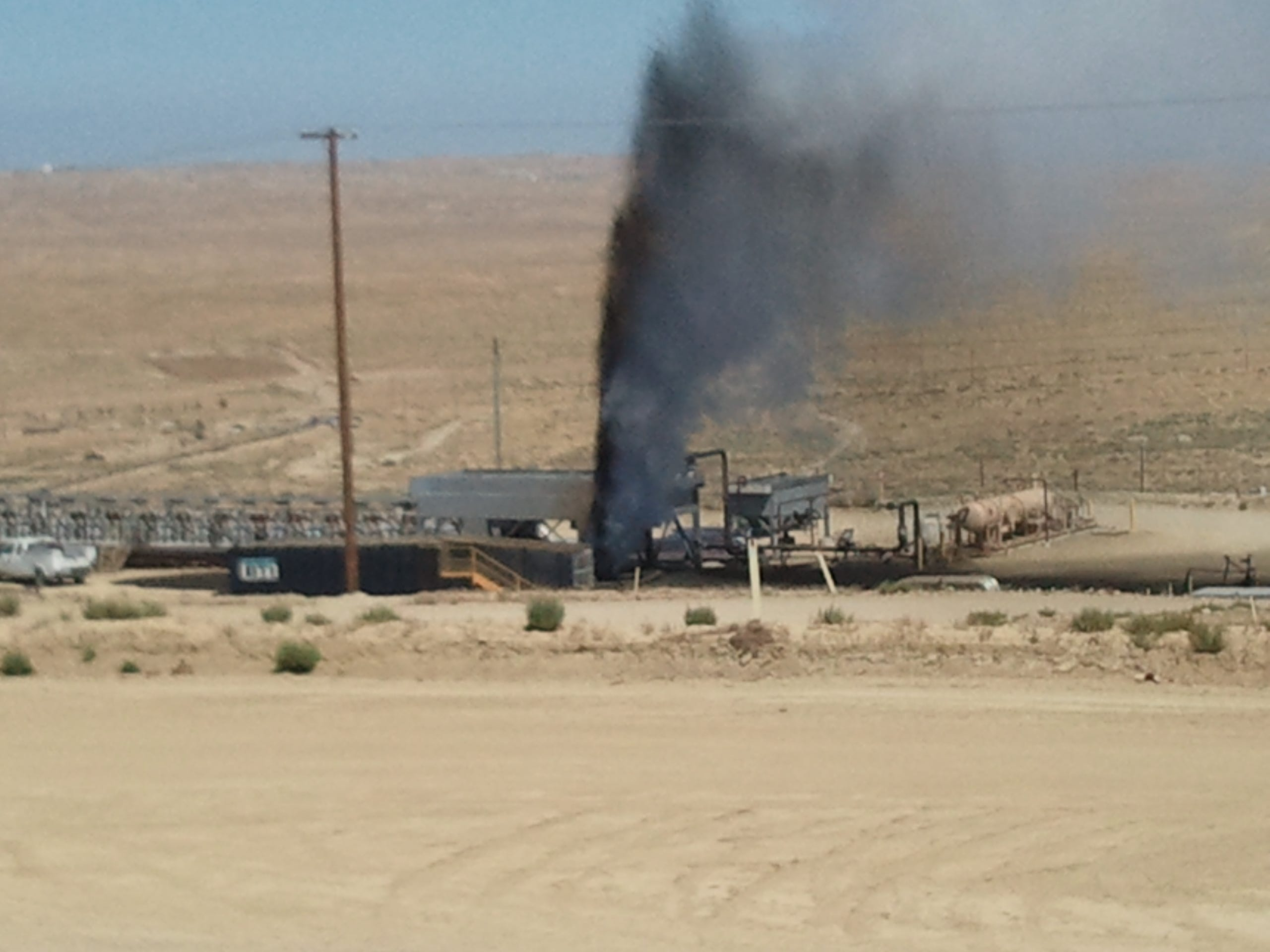 A Berry Petroleum Co. surface expression in the Midway-Sunset Oil Field in August 2011.