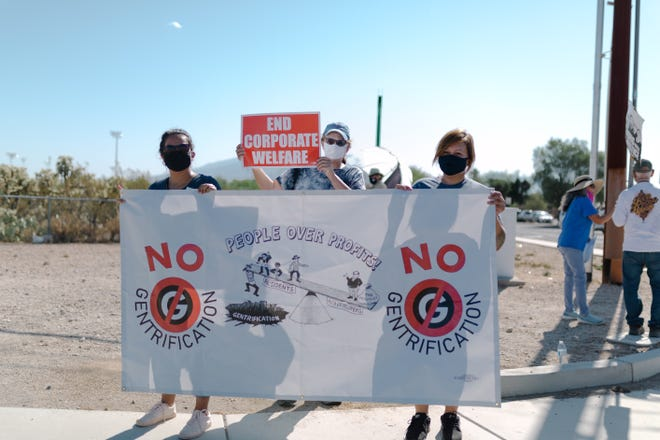 Tucson residents protest the proposed expansion of the Government Property Lease Excise Tax.