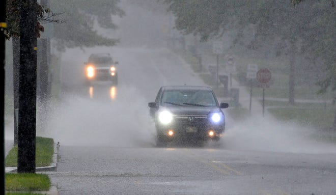 Heavy rains cause flooding and traffic issues in Springettsbury Township, Thursday, September 10, 2020.John A. Pavoncello photo
