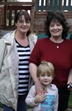 Angela Mosso; her mother, Peggy Mosso; and her son, Wyatt, in an undated photo.