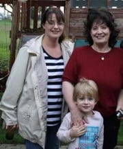 Angela Mosso, her mother Peggy Mosso and her son, Wyatt, in an undated photo.