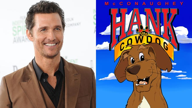 Academy Award winner Matthew McConaughey will be the voice of Hank the Cowdog when a five-episode podcast series debuts Monday, Sept. 14.