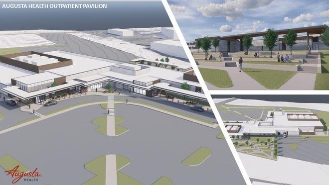 Architectural plans for Augusta Health's Outpatient Pavilion.