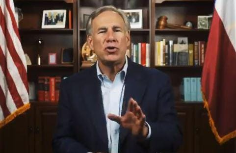 Gov. Greg Abbott, appearing in a video posted to his personal Twitter account, urged candidates Wednesday to sign his pledge to oppose funding cuts for police departments.