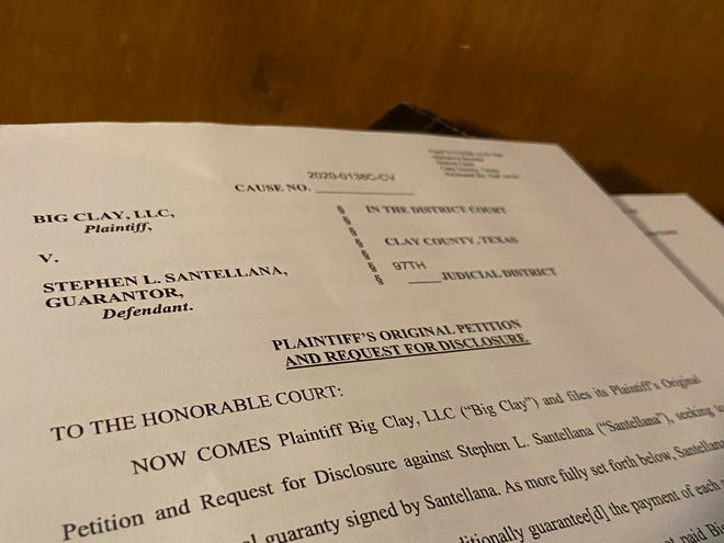 Big Clay, LLC is suing Stephen Santellana for more than $400,000 because Santellana was a guarantor for a lease agreement. The lessee on the agreement, Infinity Steel Services, declared bankruptcy in 2016 and failed to pay rent for 39 months.