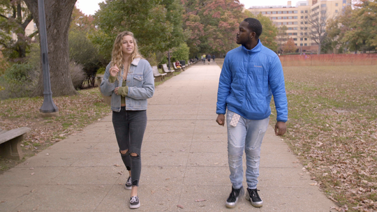 "Alexa Paulay-Simmons and Daequan Taylor in ""Deaf U."""