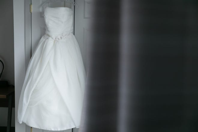 My wedding dress waiting for the big day to begin on Sept. 13, 2019.