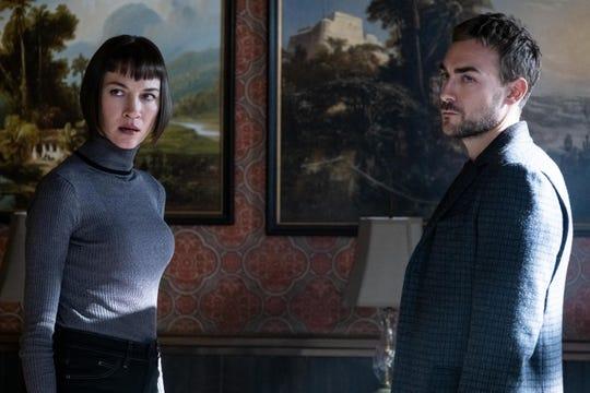 "Ana Helstrom (Sydney Lemmon) and Daimon Helstrom (Tom Austen), shown in ""Helstrom."""