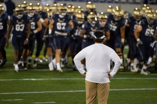 Navy played host to BYU on Sept. 7, as the two independent schools faced in one of the first games of the season.