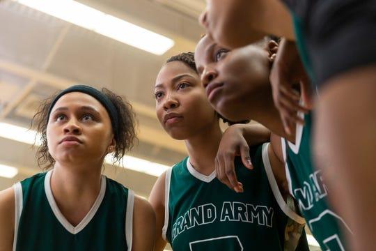 Naiya Ortiz as Sonia Cruz and Odley Jean as Dominique Pierre in Netflix's 'Grand Army,' set at a Brooklyn public high school.