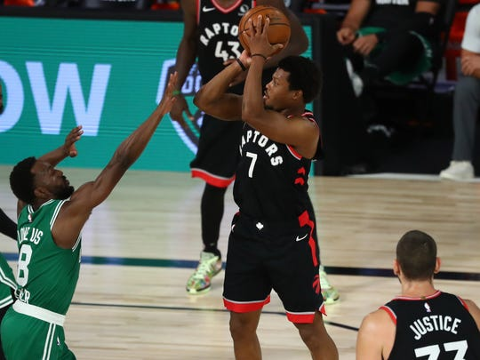 Kyle Lowry scored a game-high 33 points for the Raptors.