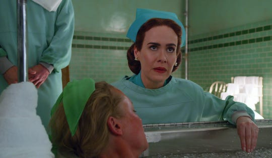 """Sarah Paulson as Nurse Mildred Ratched in Netflix's """"Ratched,"""" an origin story of the evil nurse from """"One Flew Over the Cuckoo's Nest"""""""