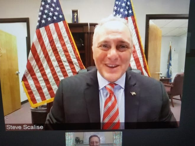 Sen. Steve Scalise, R-La., speaks during a webinar on the oil and gas industry Friday sponsored by the South Central Industrial Association.