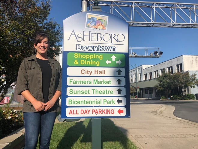 Rebekah McGee, the new director of Asheboro's fledgling Main Street program, is looking forward to embracing the city.