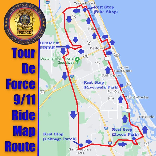Bicycle riders, including law enforcement officers from throughout the state, will pay tribute to those killed during 9/11 attacks on Saturday during the Tour De Force 9/11 Memorial Ride.