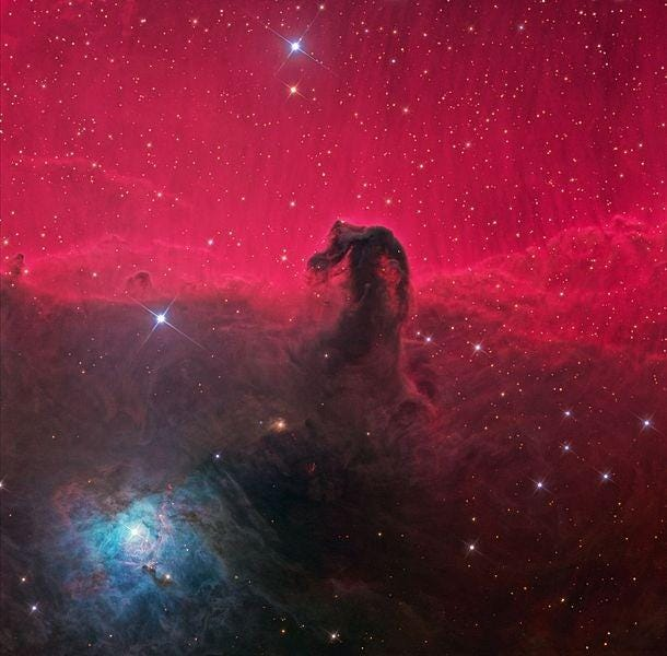 The Horsehead Nebula, in the constellation Orion.