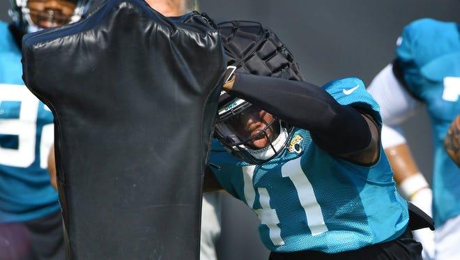 Jaguars second-year defensive end Josh Allen has developed into one of the leaders on defense, despite entering his second season in the NFL.