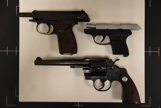 Officials say these are the guns brought to school by a 12-year-old Callahan boy on Thursday.