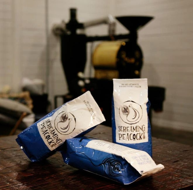 Screaming Peacock Coffee in St. Augustine is the new venture by the owners of Jacksonville's Urban Grind Coffee Co. The artisan coffee roastery is named for the nearby screaming peacocks roaming the grounds of the Fountain of Youth.