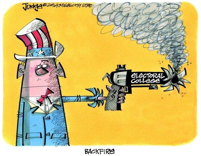 Editorial cartoon: Electoral College