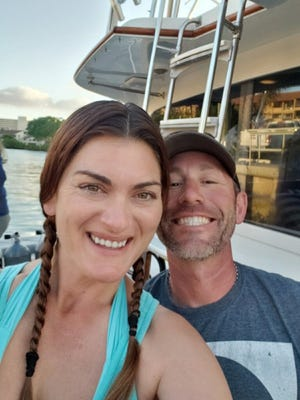 This photograph of Mollie Ghiz-Flynn, and her husband Sean Flynn, was taken as the Southern Comfort headed out for a diving excursion on March 29, 2020. Hours later, Ghiz-Flynn died in a boating accident. [Photo provided by Sean Flynn]