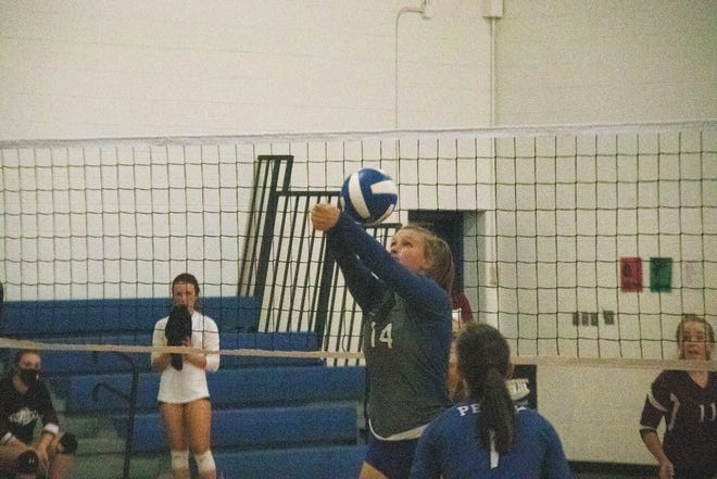 Lanie Fish in action during the home invitational on Thursday, Sept. 10.