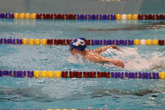 Jaylene Karolus competes for the Jayettes during an away meet on Thursday, Sept 10.